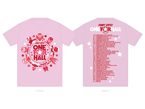 ONE FOR HALL TOUR 2015 ロゴTシャツ